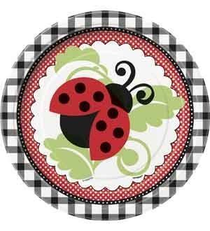 Lively Ladybugs 7 Inch Plates 8 Ct (6 Piece/Pack) - 44094 by Unique Industries ()