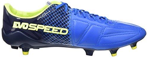 Puma Evospeed 1.5 Lth Fg, Botas de Fútbol Hombre Azul (Electric Blue Lemonade/Puma White/Peacoat 02)