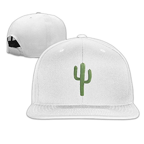Nquqiyilu Men's Arizona Saguaro Cactus Classic Football White Caps Hats Adjustable Snapback
