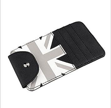 Black//Grey Union Jack UK Flag Car Sun Shade Visor Slot Card Bag Pocket Pouch Holder Case For Mini Cooper F55 F56 R50 R52 R53 R55 R56 R60 R61