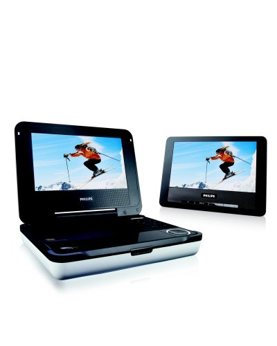Philips PET708/37 Portable DVD Player with Dual LCD Display Screens and Car Mount Kit ()