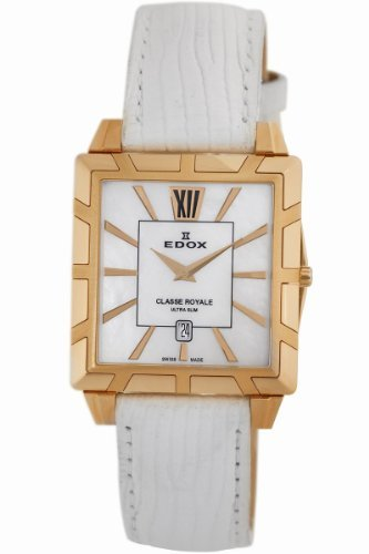 Edox Women's 26022 37R NAIR Classe Royale Rectangular Date Watch