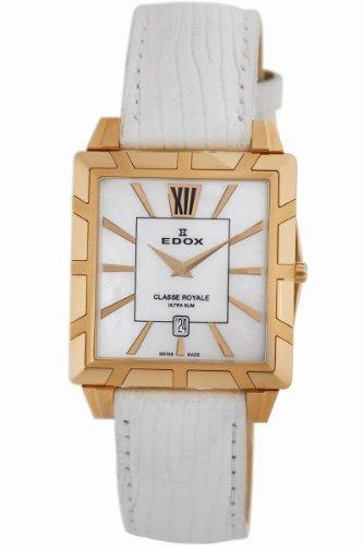 Edox Women's 26022 37R NAIR Classe Royale Rectangular Date Watch