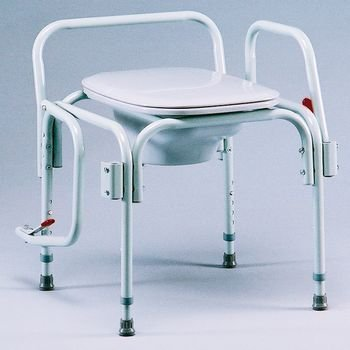 Adjustable Drop Arm Commode TUFF COAT 1