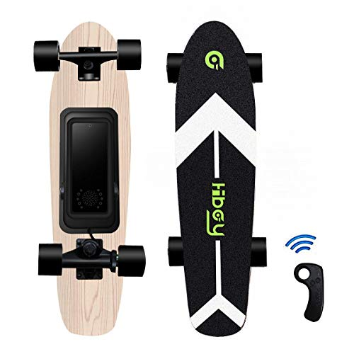 Hiboy S11 Electric Skateboard with Wireless Remote, Longboard Single Hub Motor, Light Weight 7.94LBS, Top Speed 12.4MPH, Range 7 Miles, for Youths and Students(Upgraded Version)