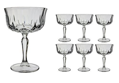 6x Opera Maison Crystal 24cl Champagne Cocktail Saucers by RCR Crystal for Fitting Gifts