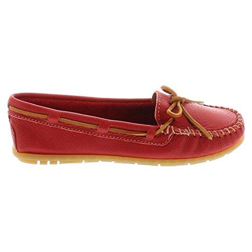 Minnetonka Boat Moc 613S Damen Mokassins Red Leather