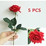LebriTamFa-High-Quaulity-Latex-Real-Touch-Rose-Artificial-Flower-Bouquet-for-Wedding-Holiday-Bridal-Bouquet-Home-Party-Decor-Bridesmaid-Red-5