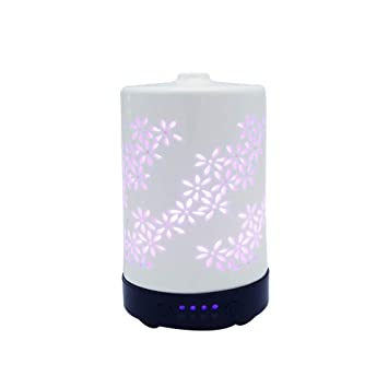 Aroma Diffuser Home & Garden Humidifier And Night Light All In One Pure White And Translucent