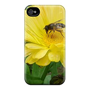 New Arrival Iphone 4/4s Case Beautiful Natural Flower Bee Case Cover
