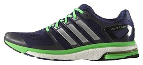 ADIDAS Energy Boost ESM Scarpa da Running Uomo, Blu Marina/Verde, 47 1/3