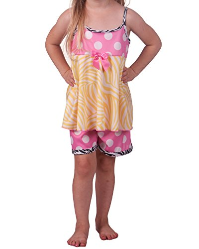 Laure Dare Little Girls Sunset Jungle Strappy Pajama, Size 3t