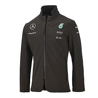 Mercedes benz men 39 s gray team softshell blazer jacket w for Mercedes benz clothing men