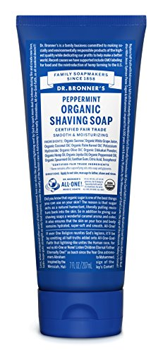 (Dr. Bronner's Peppermint Organic Shaving Soap, 7 oz)
