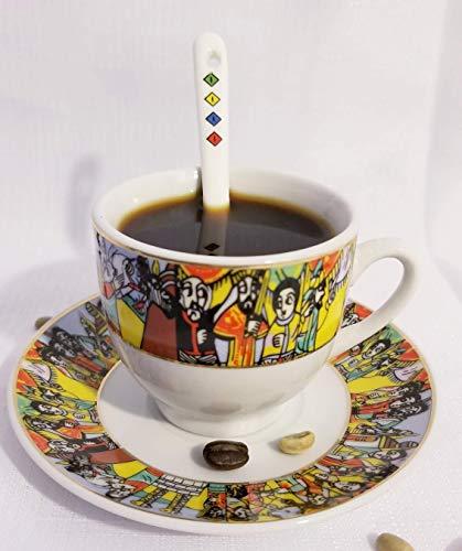 Ethiopian/Eritrean Coffee Cups Set, Sábá (ንግስተ:ሳባ)-Edition 12 Pieces