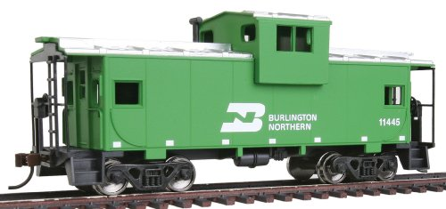 (Walthers Trainline Wide Vision Caboose with Metal Wheels Ready to Run Burlington Northern)