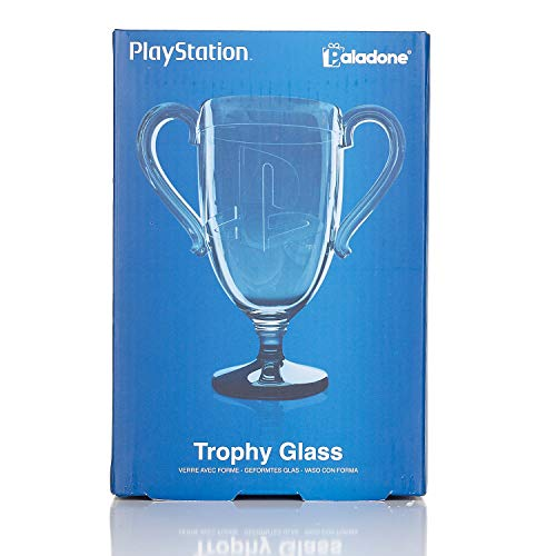 Paladone PlayStation Trophy Shaped Drinking Glass with PlayStation Icons