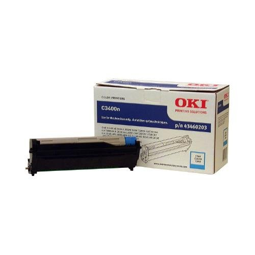 Okidata C3400, C3530 MFP, C3600, MC360 MFP Series Cyan Image Drum (Ships With 1,000 Yield Toner Cartridge) (15,000 Yield), Part Number 43460203 by OKI