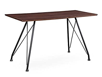 Tov Furniture The Dorian Collection Mid Century Modern Style Home Office  Desk Table With Black