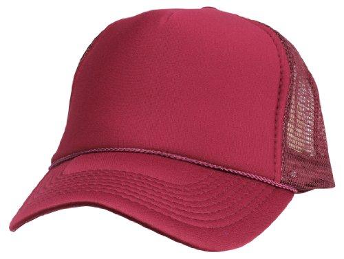 DALIX Blank Hat Summer Mesh Cap in Maroon Trucker Hat