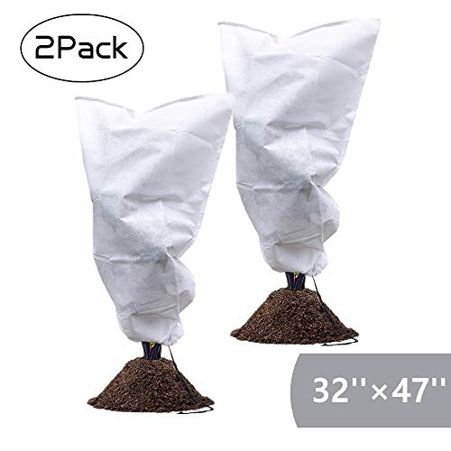 - Garden EXPERT Plant Cover Frost Protection Bag Shrubs & Trees Jacket, Prevent Damage, Bad Weather and Pests(2-Pack 32'' × 47'')