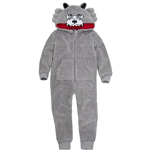 Onezee Boys Novelty Hooded Snuggle Fleece Wolf Themed Jumpsuit Costume 7-8