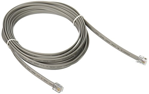 C2G 09600 RJ12 6P6C Straight Modular Cable, Silver (14 Feet, 4.26 Meters)