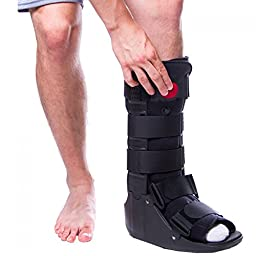 BraceAbility Tall Air Cam Walker Boot for Broken or Sprained Ankle, Fractures, or Achilles Surgery Recovery - With Adjustable Air Compression Pump - M