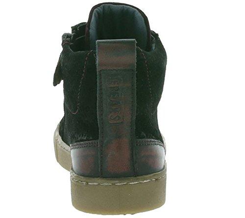 enfants jochie FREAKS Leo cuir véritable sneaker Noir 16364