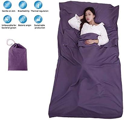 Tapusen Soltero Doble Saco de Dormir Forros 100% algodón Saco de ...
