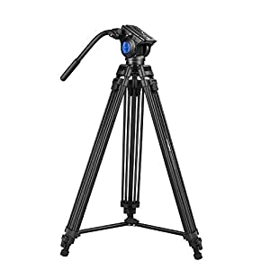 RetinaPix DIGITEK® DTR 510 VD (70 Inch) Professional Aluminum Tripod with Multipurpose Head for Low Level Shooting & Panning Photography