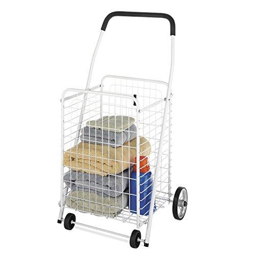 Whitmor Rolling Utility / Shopping Cart White]()