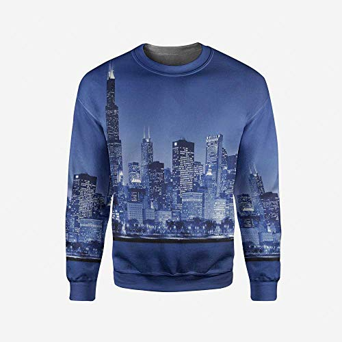 Men's Crewneck Fox Pullover Sweater by iPrint