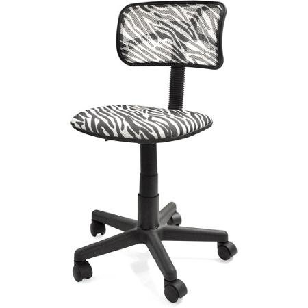 Trendy Swivel Mesh Chair in Zebra Print for College, Dorm and Office (Zebra Mesh)