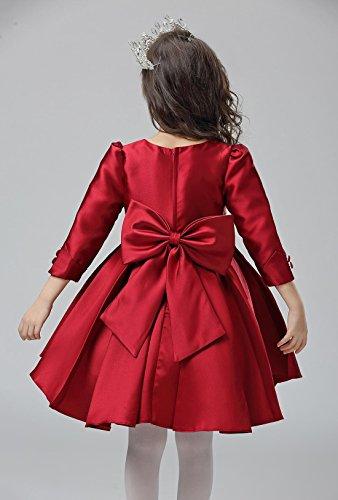 Happy Cherry - Rojo Rojo Vestido Formal de Princesa con Mangas Largas Traje de Fiesta para Niñas Boda Ceremonia Cumpleaños, Talla 110-160CM: Amazon.es: Ropa ...
