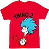 Dr. Seuss Thing 2 Adult Red T-shirt (Adult Small)