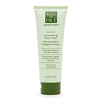 Kiss My Face Potent and Pure Start Up, Exfoliating Face Wash, 4 fl oz Leaders, Detox and Chill, Charcoal Purifying Mask, 1 Mask, 0.84 fl oz (pack of 12)