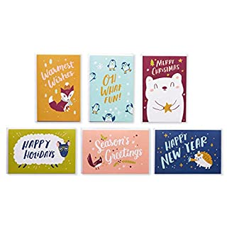 American Greetings Holiday Card Bundle, Christmas, Holidays, New Years (48-Count)