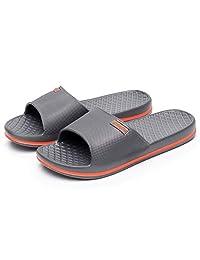 MIYA Unisex Bathroom Slippers Womens&Mens Slides Shower Sandal Anti-Slip Household Shoes Beach Pool Flip Flop Spa Plastic Soft Sandals 6 Color