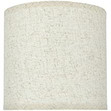 """Aspen Creative 31051 Transitional Hardback Drum (Cylinder) Shape Spider Construction Lamp Shade in Flaxen, 8"""" wide (8"""" x 8"""" x 8"""")"""