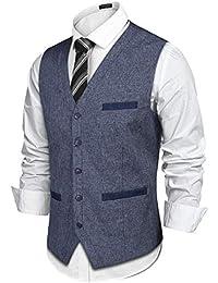 Men's Business Suit Vest Slim Fit Wedding Dress Vest