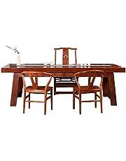 Genrics Table à thé en Bois Massif Bureau Okan Red Tali