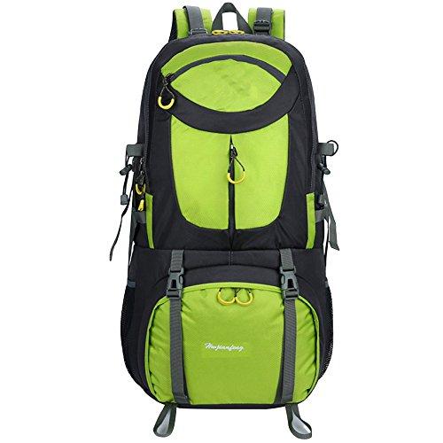 QIKAI Taktischer Rucksack Bergsteigen Wandern Camping Tasche Große Kapazität Outdoor-Sportrucksack Für Männer Und Frauen,FruitGrün-S