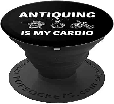 Antique Collectors Gift Antique Dealers Thrifting - PopSockets Grip and Stand for Phones and Tablets