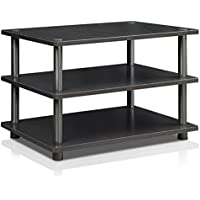Furinno Turn-N-Tube Easy Assembly 3-Tier Corner TV Stand 15094BW/BK, Blackwood