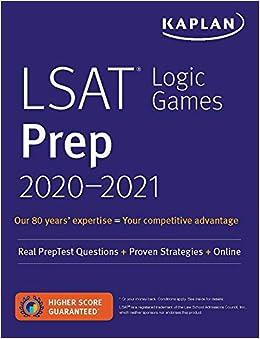 LSAT Logic Games Prep 2020-2021