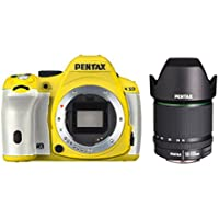 Pentax K-50 16MP Digital SLR Camera 3-Inch LCD with 18-135mm f/3.5-5.6 WR Lens (Yellow/White)