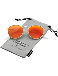 Small Round Polarized Sunglasses Mirrored Lens Unisex...