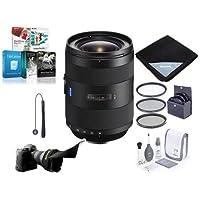 Sony 16-35mm f/2.8 Vario-Sonnar T ZA SSM II Zeiss Lens, Alpha DSLR Mount - Bundle with 77mm Filter Kit, Flex Lens Shade, Lens Wrap (19x19), Cleaning Kit, CapLeash, Software Package
