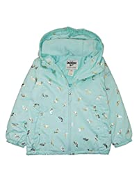 Osh Kosh B'Gosh Girls' Mermaid Print Midweight Jacket with Fleece Lining